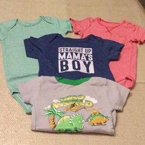 Lot of 3 Bodysuits and 1 TShirt